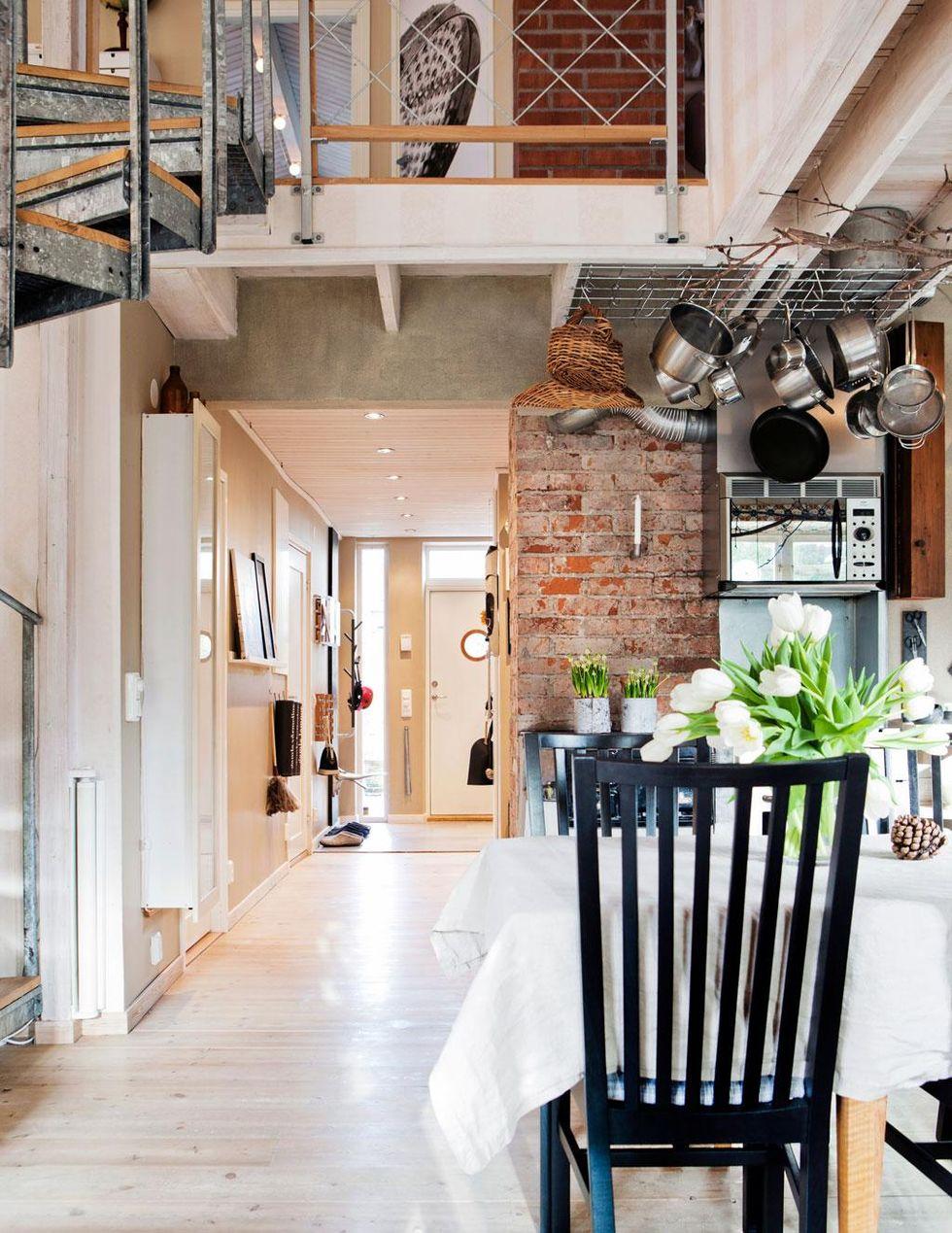 Inspiring Industrial Interiors That Features Exposed Brick Walls