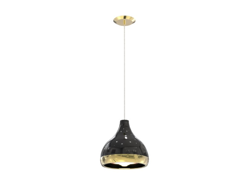 Elegantly made in brass by artisans who applied delicately an ancient technique called hand metal spinning, if you style the pendant lamp alongside a mid-century decor it will provide your room a striking, elegant look.