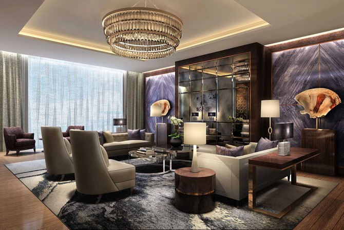 Luxurious hospitality projects by wimberly interiors for Marriott hotel home decor
