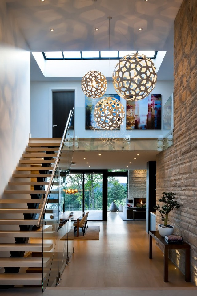 15 contemporary hallway ideas for your home decor West Vancouver Residence with spectacular ocean views by Claudia Leccacorvi of Raven Inside Interior Design