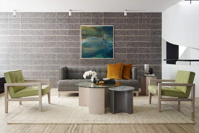 Contemporary living room designs by Greg Natale design chest armchair