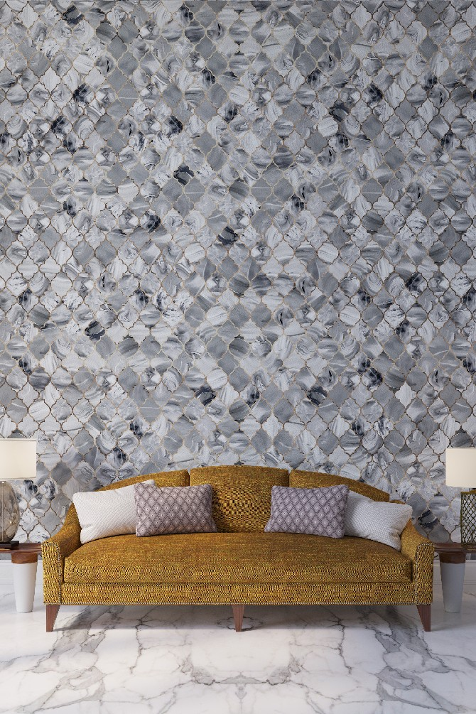 wall covering designs. Exclusive Interview with Yana Svetlova modern wallcovering designs  Malachite grey