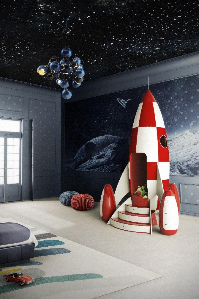 15 colorful children's room ideas delightfull atomic sputnik sphere pendant chandelier