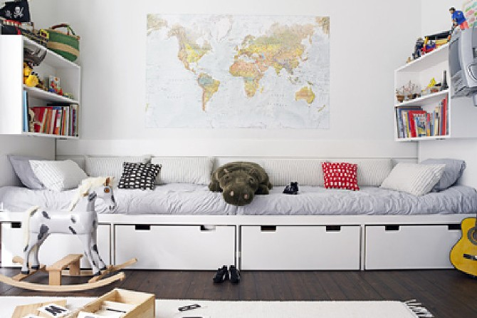 15 colorful children's room ideas map
