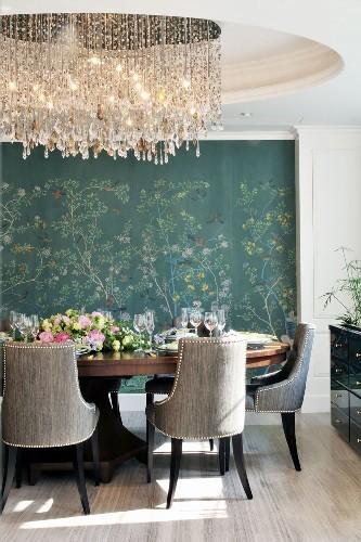 mid century modern dining room lighting | get the look: 20 mid century modern glamorous dining room ...