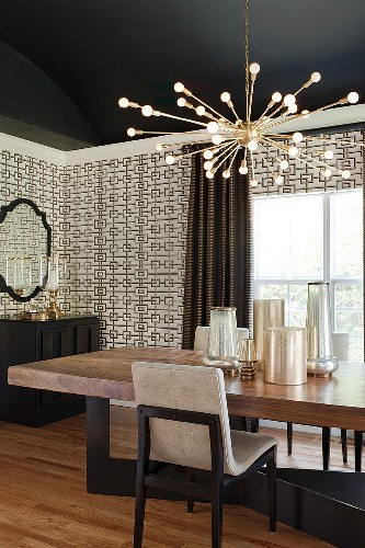 get the look 17 mid century modern glamorous dining room design eclectic country dining room. Chocolate and white