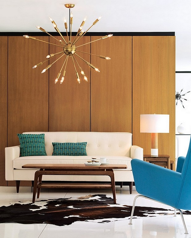 Mid Century Dining Room: Mid Century Modern Brass Chandeliers For A Hospitality