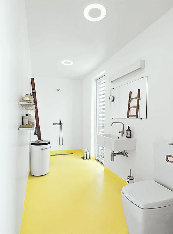 Get your bathroom a pop of color spring trends