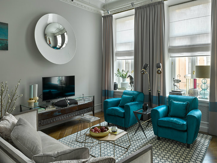 Apartment in Russia featuring mid-century modern furniture & lighting (12)
