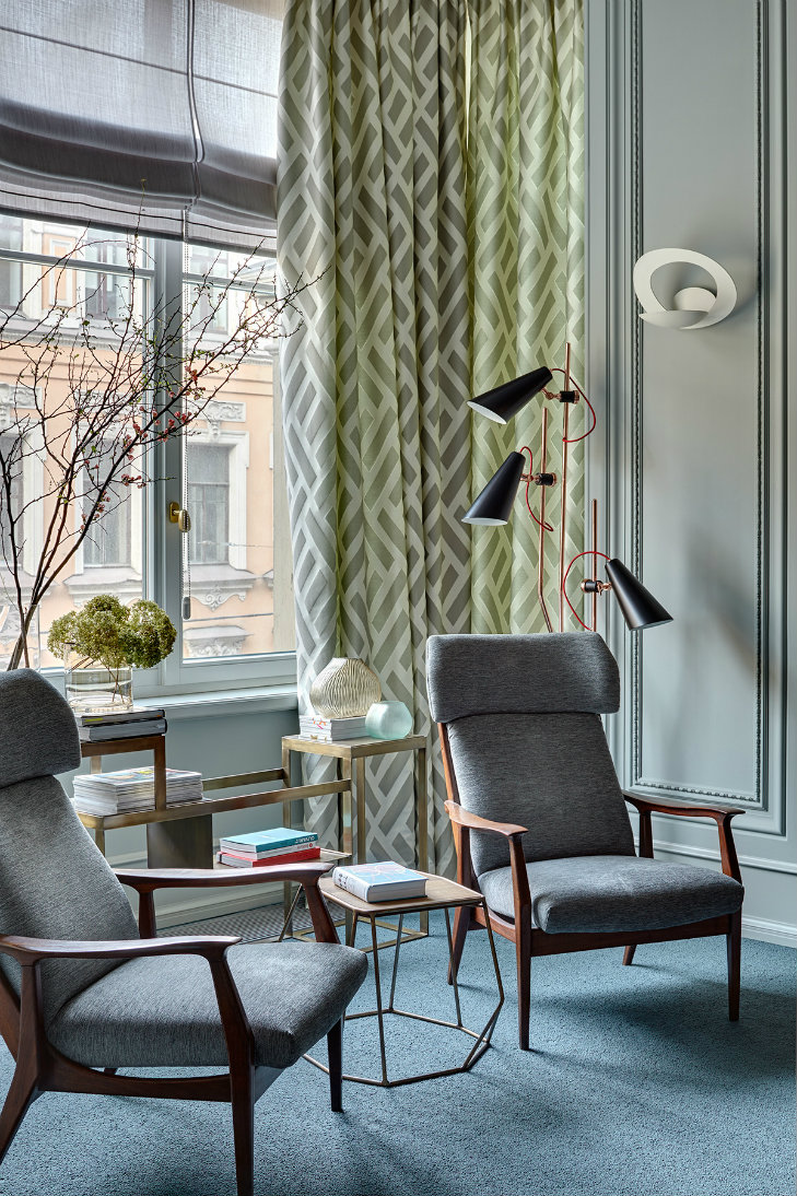 Apartment in Russia featuring mid-century modern furniture & lighting (7)