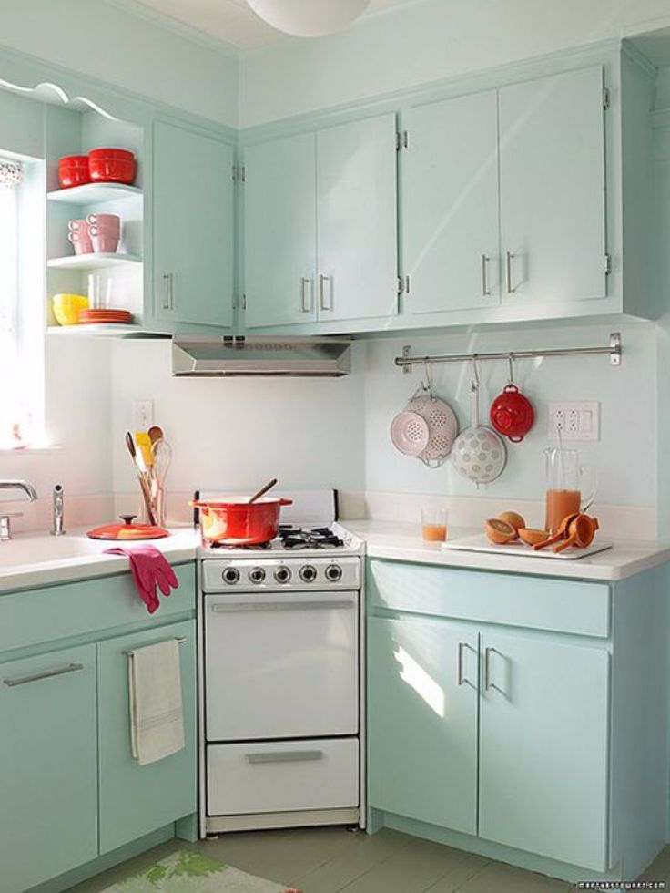 Stylish Aqua Retro Kitchen