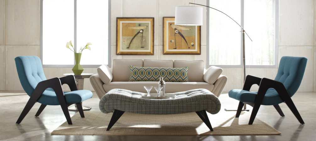 mid century modern living room design ideas mid century room design 2 Cool Mid-Century Modern Floor Lamps for your living room decor ideas