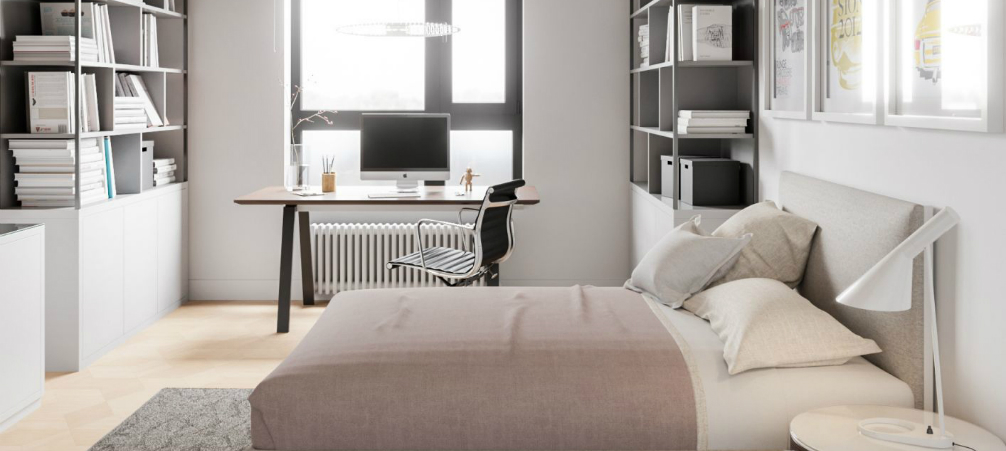 Discover this Minimalist Apartment Shining with Mid-Century Lighting