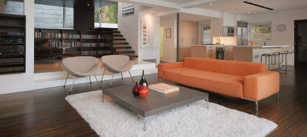 Room of the Week- Minimalist Living Room in Hollywood Hills