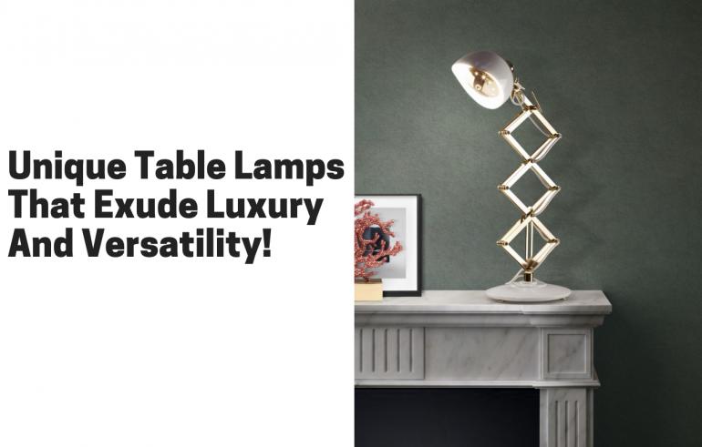 独特的台灯散发出豪华和多功能性!