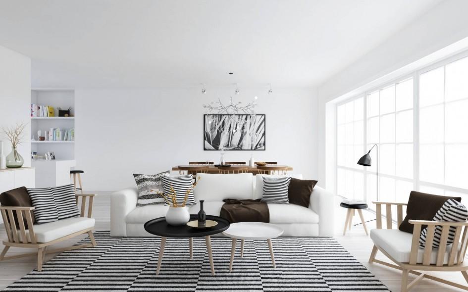 Marvelous Amazing Scandinavian Style Interior Design With Monochrome Style