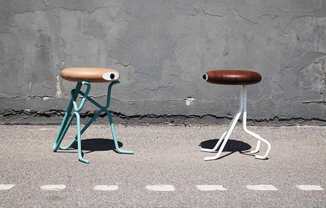 Humoristic companion stools by phillip grass