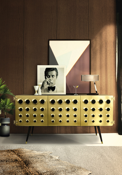 CONTEMPORARY LIVING ROOMS: GOLDEN SIDEBOARD