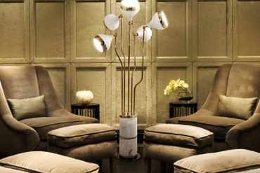 mid century modern lamps - white and gold ideas