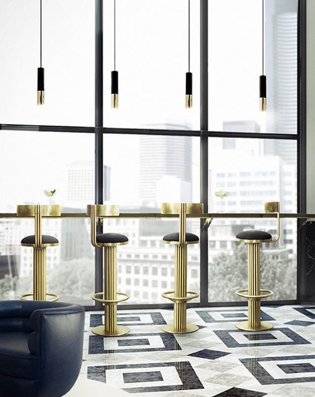 Mid century modern counter stools