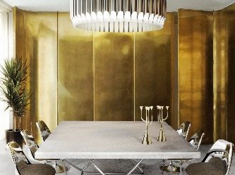 CONTEMPORARY INTERIOR DESIGNS USING CIRCULAR SUSPENSION LAMPS matheny galliano