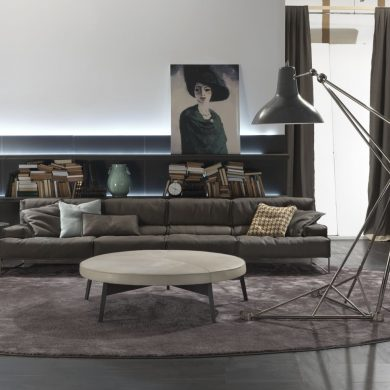 Use floor lamps in your industrial style living room (3)