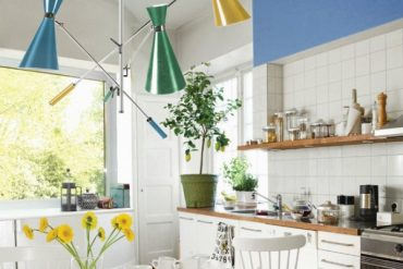 Inspiring Bold Colors for Modern Kitchen by DelightFULL