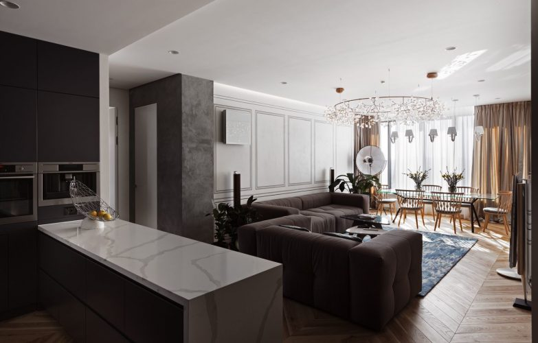 BEST MODERN DESIGN APARTMENT FOR A BIG FAMILY Awesome Modern Design Apartment Design