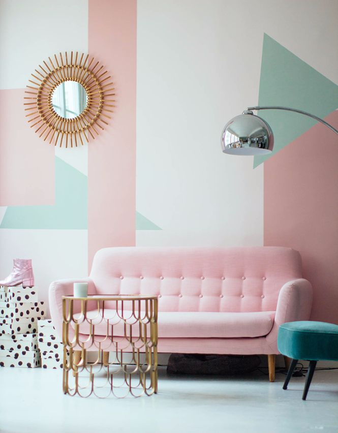 INSPIRING MODERN FLOOR LAMP WITH PASTEL COLORS