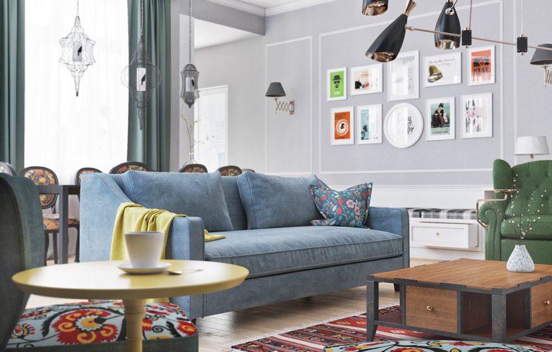 INSPIRING LIVING ROOM WITH A SCANDINAVIAN ATMOSPHERE