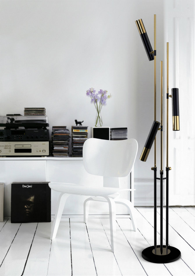 COOL MID-CENTURY MODERN FLOOR LAMPS FOR YOUR LIVING ROOM DECOR IDEAS