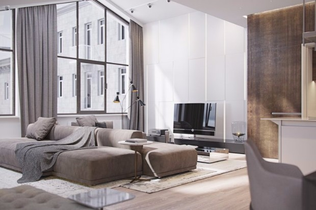 ITALIAN APARTMENT SHINING WITH CONTEMPORARY LIGHTING DESIGNS 1