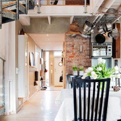 Inspiring Industrial Interiors That Features Exposed Brick Walls 3