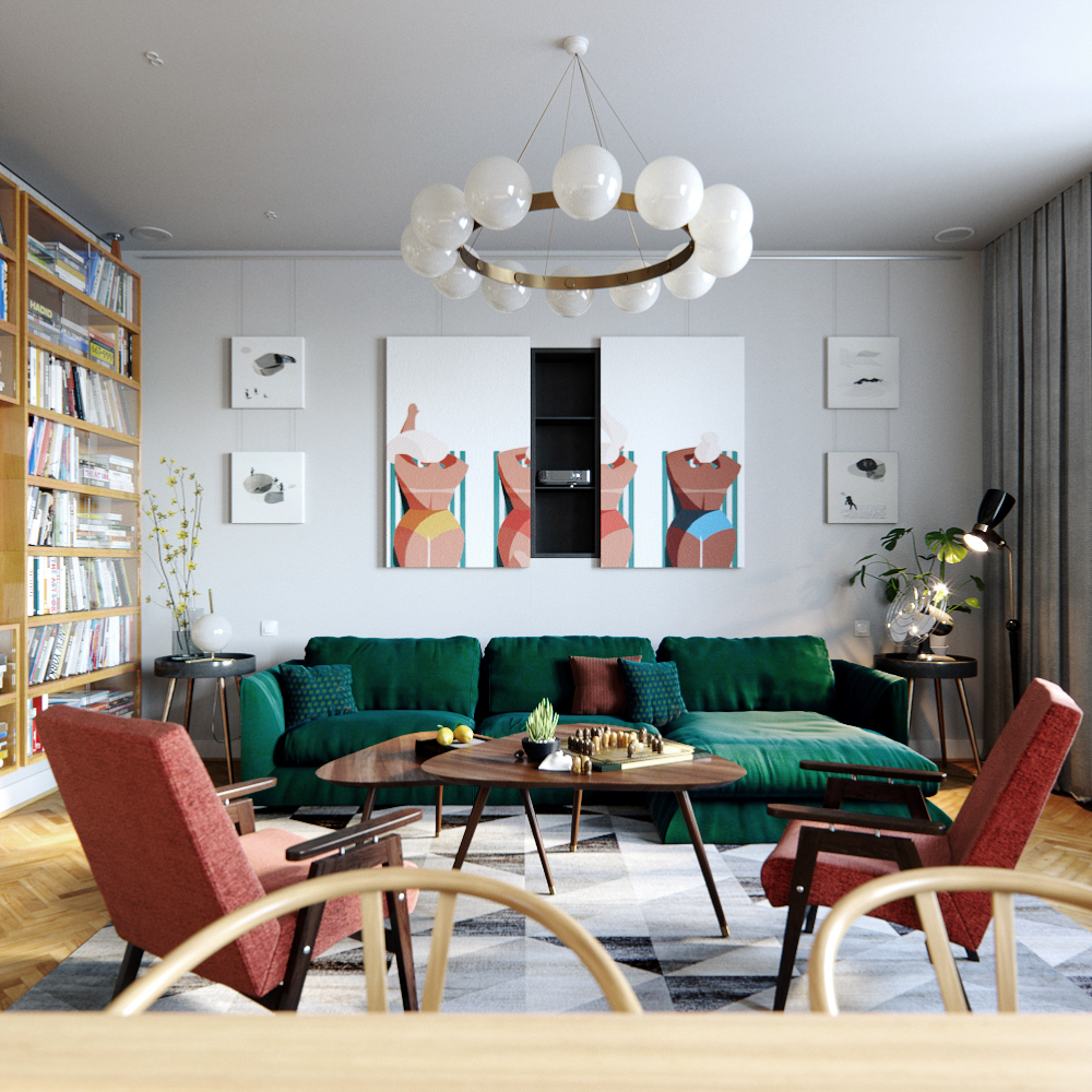 5 Living Rooms That Demonstrate Stylish Modern Design Trends: Dream House: Mid-Century Style Meets Vintage In The Heart