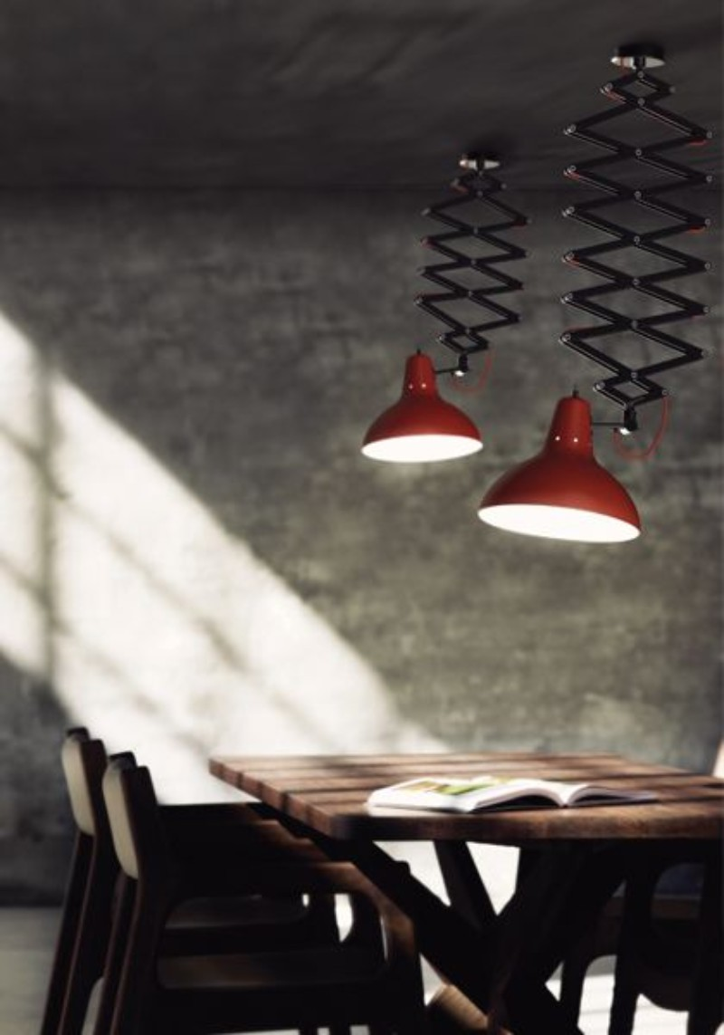 Vintage suspension lamps
