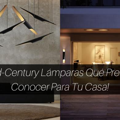 5 Mid-Century Lámparas Qué Precisas Conocer Para Tu Casa!