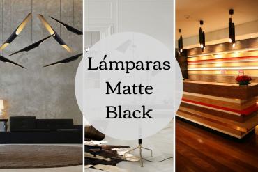 Lámparas Matte Black