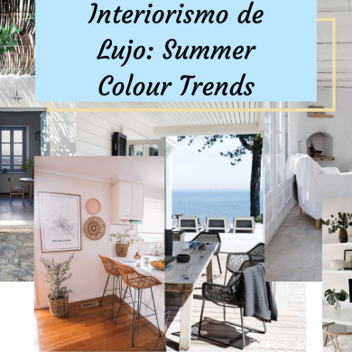 Interiorismo de Lujo Summer Colour Trends