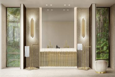 Glamorous Luxury Bathroom With a Mid-Century Touch