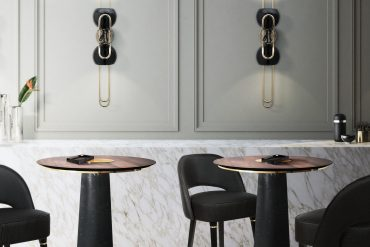 Bar Inspirations: Mid-century Wall Lamp with a Contemporary Twist