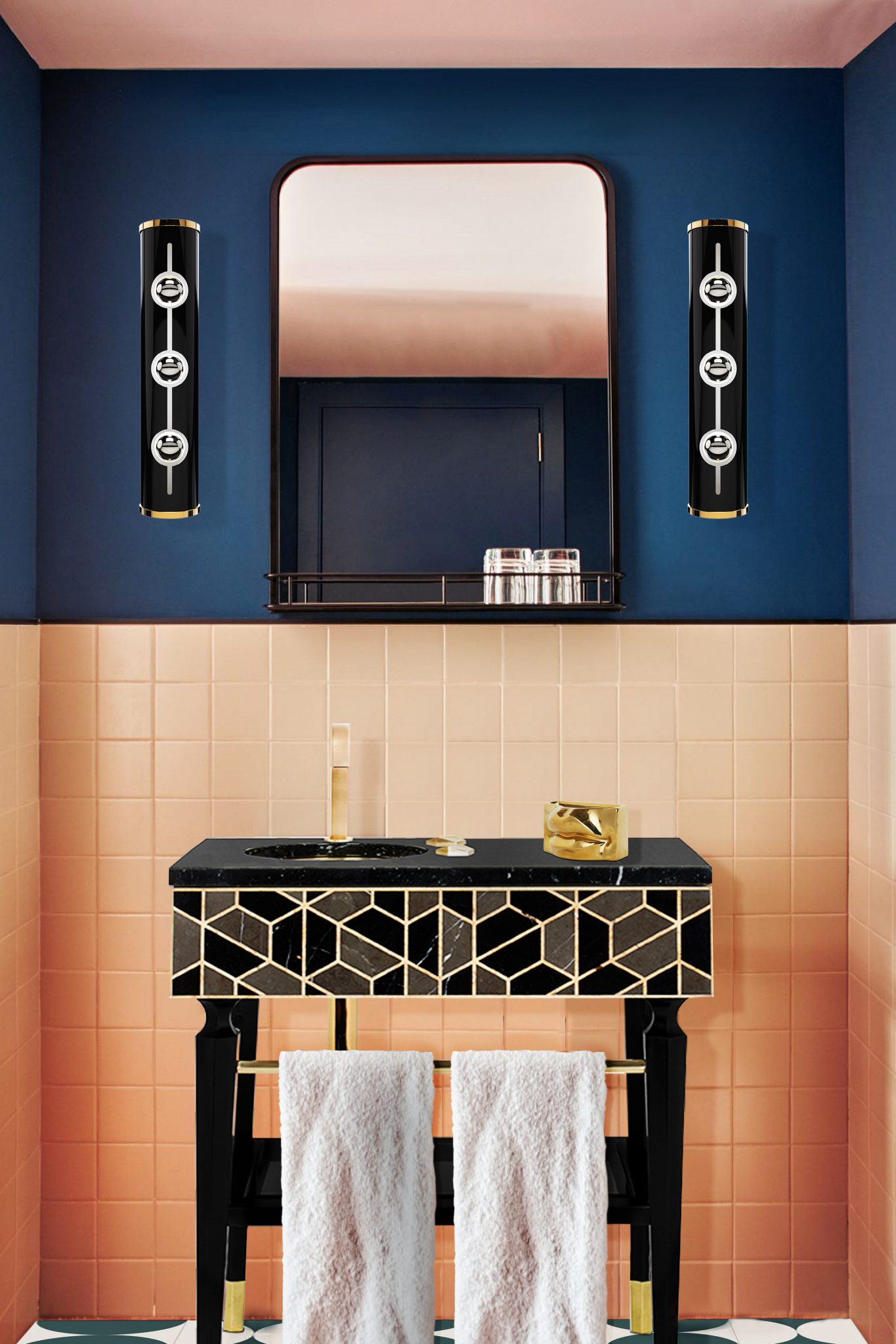 Luxurious Bathroom With a Mid-century Touch