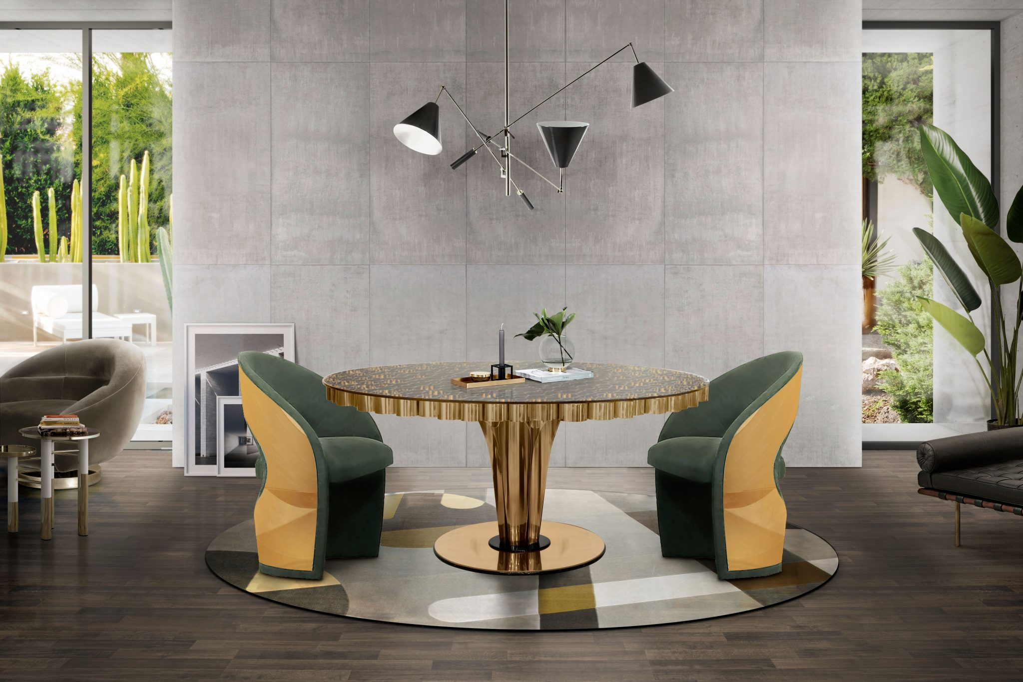 STYLING YOUR DINING ROOM DESIGN WITH GREENISH HIGHLIGHTS