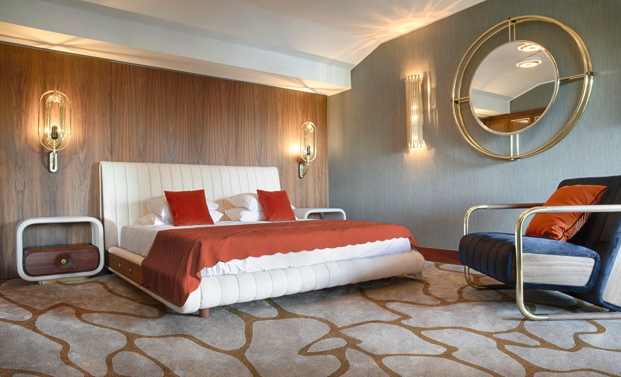 Mid-century bedroom are an inspiring luxury experience