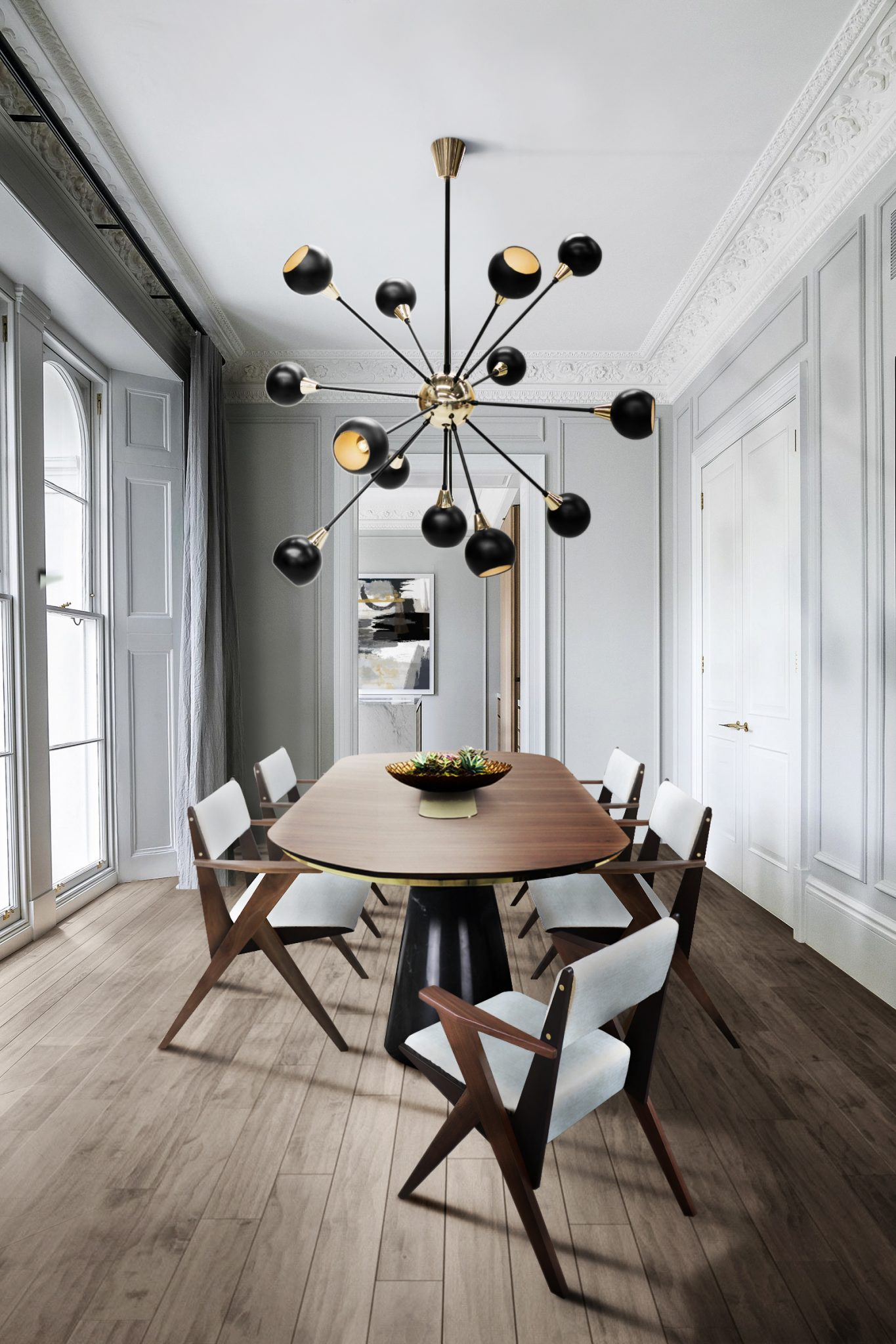 DINING ROOM WITH BLAKEY CEILING SUSPENSION