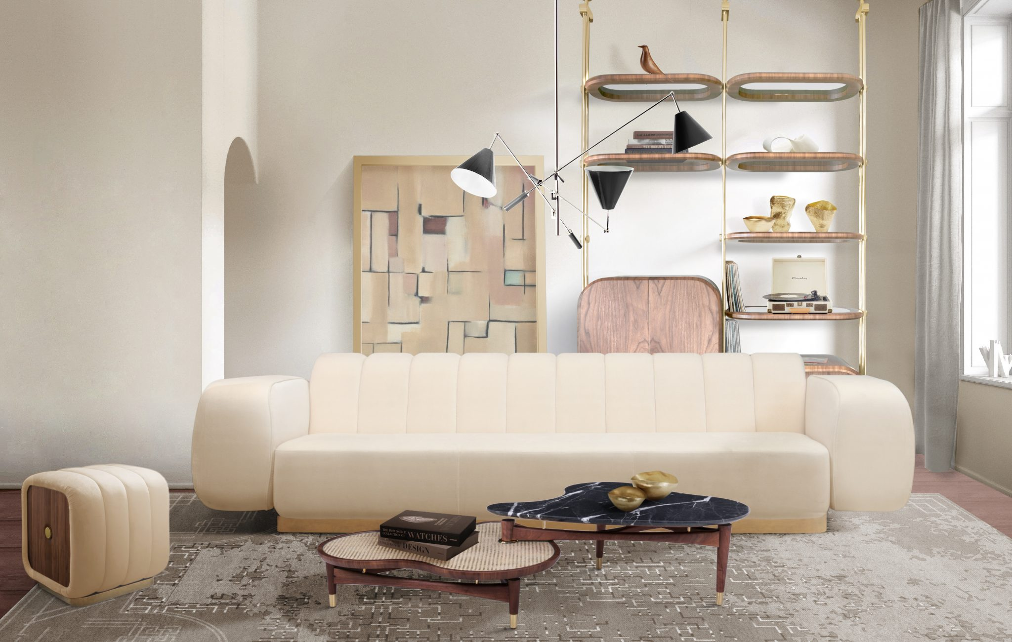 THE PERFECT LIGHTING PIECE FOR AN ELEGANT MID-CENTURY LIVING ROOM