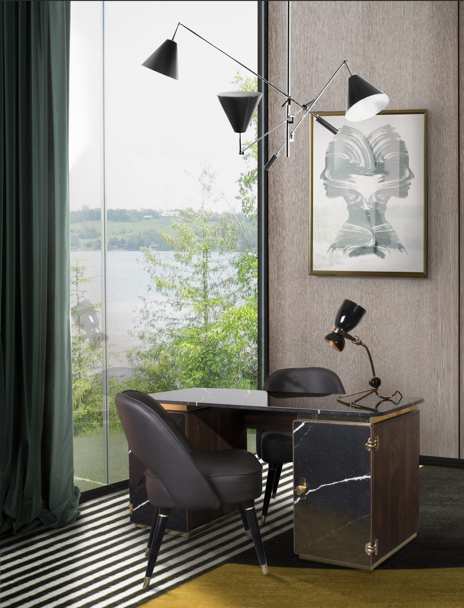 HIGHLIGHTING MID-CENTURY MODERN VIBES FOR YOUR HOME OFFICE