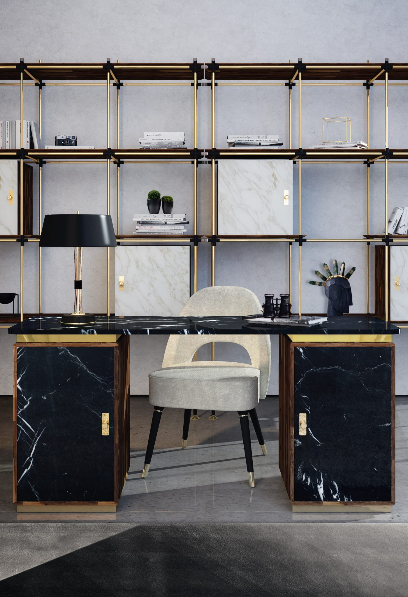 BE INSPIRED WITH A UNIQUE AND SOPHISTICATED MID-CENTURY OFFICE