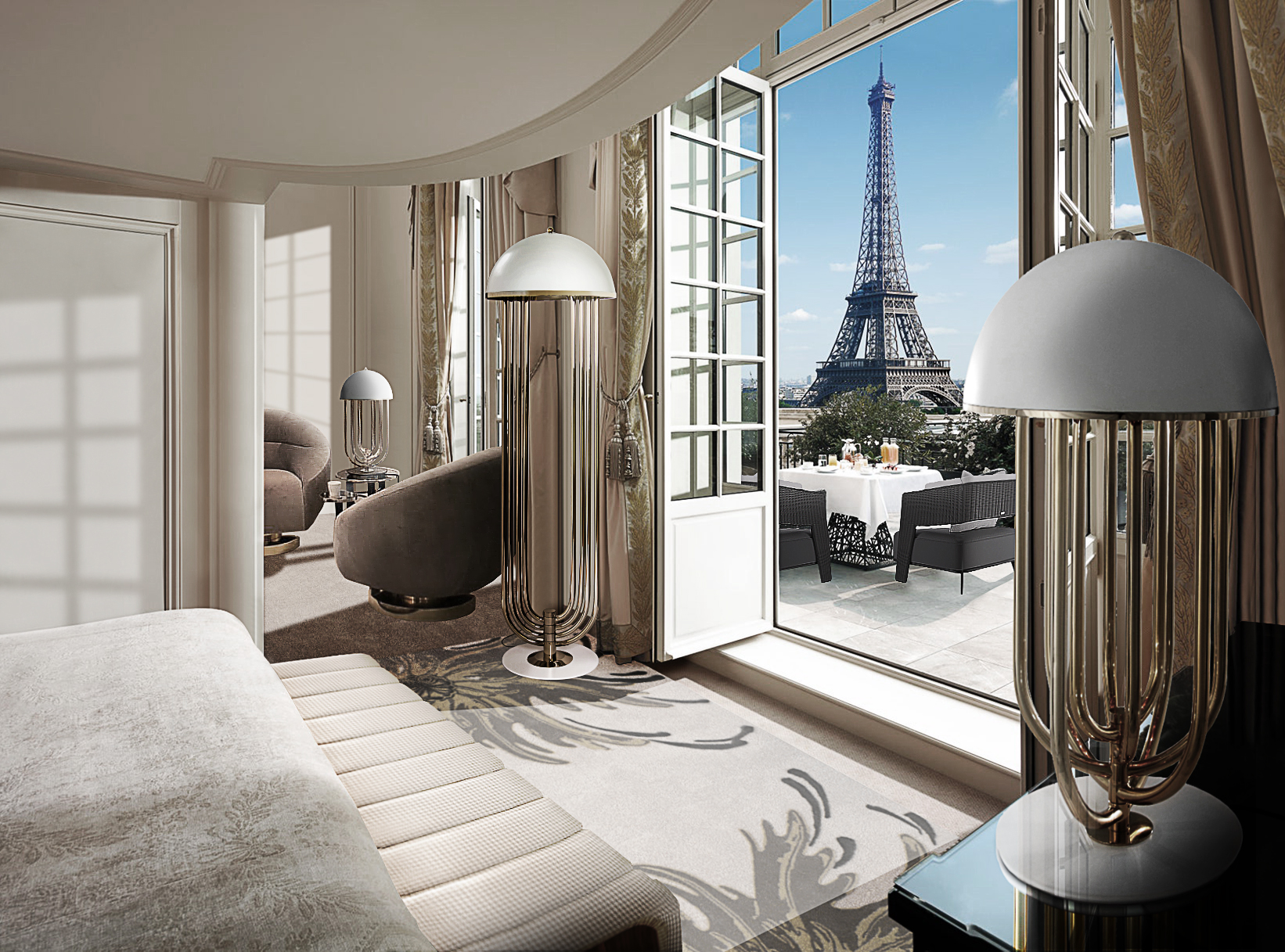 STUNNING BEDROOM WITH PARIS VIEW