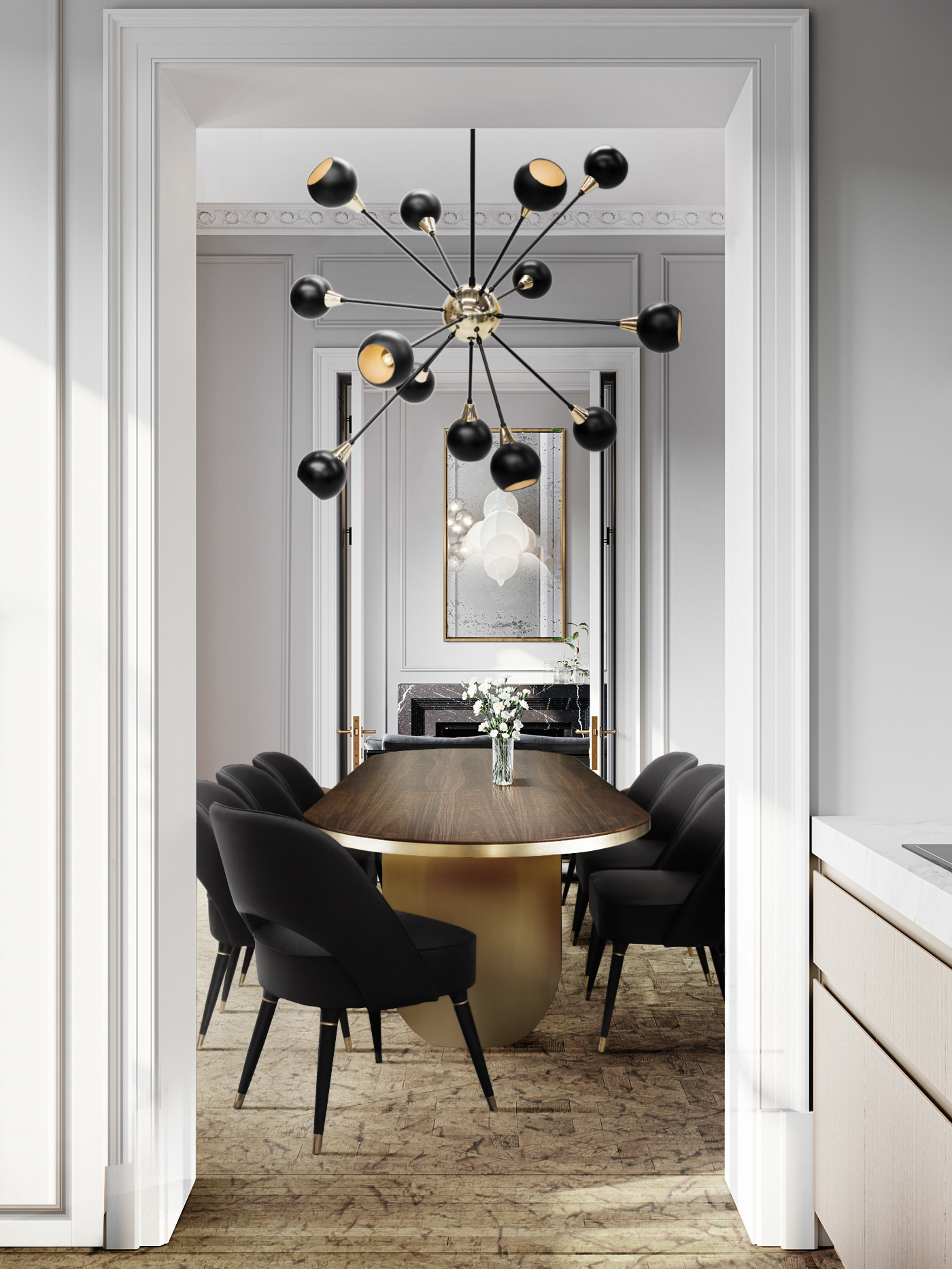 MODERN AND SOPHISTICATED DINING ROOM