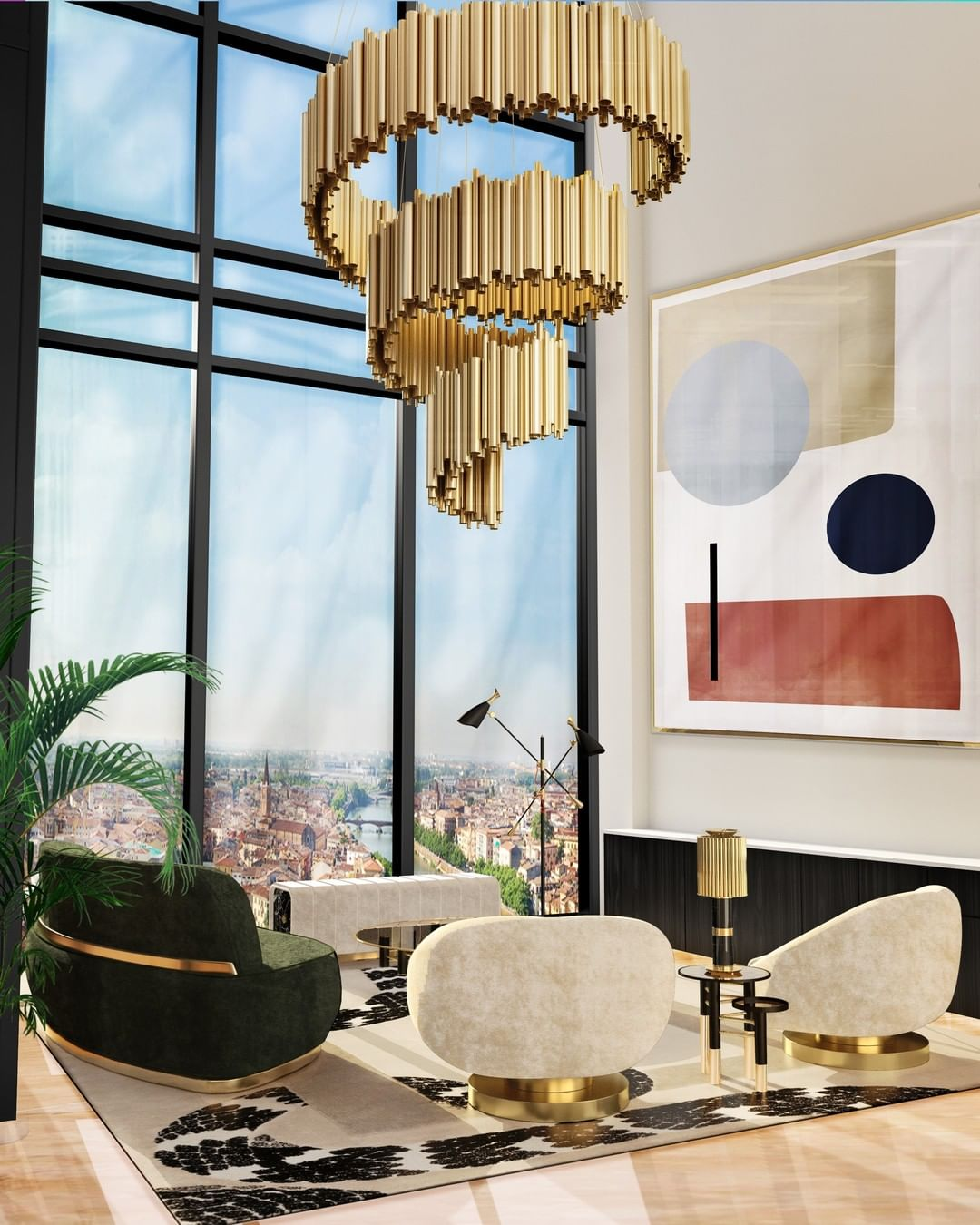 GET INSPIRED WITH THIS MID-CENTURY LUXURY LIVING ROOM